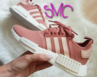 Adidas Nmd R1 Shoes Adidas Sneakers Original Raw Pink Silver Metallic Tinted Shoes Authentic Women's Trainers