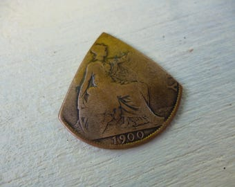 One penny guitar plectrum