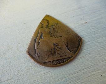 One penny guitar plectrum