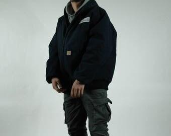 Vintage Hooded Carhartt Workwear Jacket
