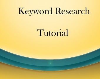 Etsy Store Keyword Research Tutorial - How to Search For Keywords - Keyword Phrases - Etsy SEO Tools - SEO Guide- SEO Tutorial