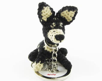 Keychain/ Crochet dog/ Miniature toy/stuffed toy/ puppy miniature doggie/ Dogs lover/Made to Order