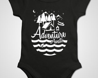 Adventure Awaits, Daddy and Me, Mommy and Me Outfits, Mountains Shirts, Hiking Shirts, Woodland Clothes, Camping Shirt, Gifts for Travellers