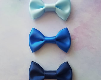 Deep Blue Sea Mini Hair Bow Set