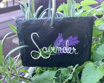 Lavender Slate Garden Marker - Stake Included