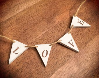 Personalised Mini Wooden Bunting Wall Hanging by Tiggymus & Co