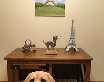 Back to Paris - Custom Handmade Kennel / Crate for Dogs