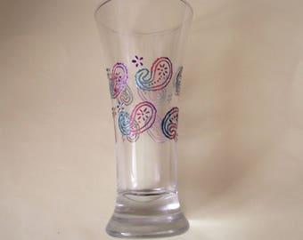 Glass painted oriental motif - Hindu colors