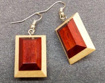 Wooden Gem Earrings