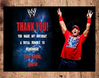 Personalized WWE Thank You Card