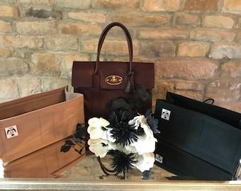 MULBERRY BAYSWATER Liner Insert Organiser Black & Beige Handmade by Handbag Angels in England