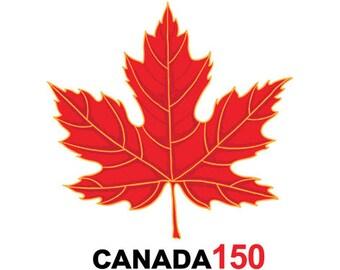 Canada Day 150 Fake Tattoos