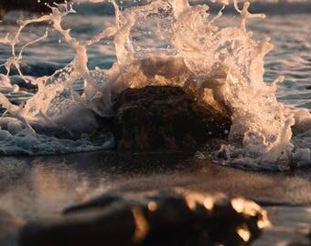 Abstract Photography / Fine Art Photography / Wave Art / Matted Print / Wave Print / Prints Wall Art / Home Decor / Ocean Print / Print Art