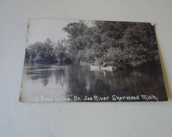 Vintage Sherwood Michigan Postcard ca 1913