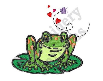 Toadally Cute - Machine Embroidery Design