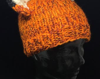 Hand knitted fox hat for kids snd adults!