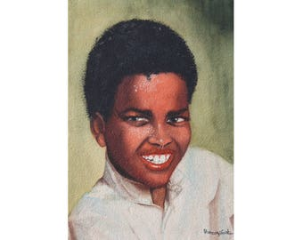 Michael - Archival Print from an Original  Watercolor Painting