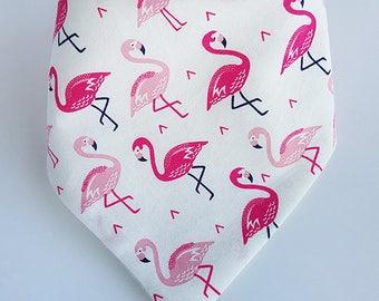 Flamingo Dribble Bib, Baby Dribble Bib, Drool Bib, Bandana Bib, Toddler Dribble Bib, Baby Shower Gift
