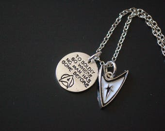 Star Trek to boldly go where no man has gone before necklace