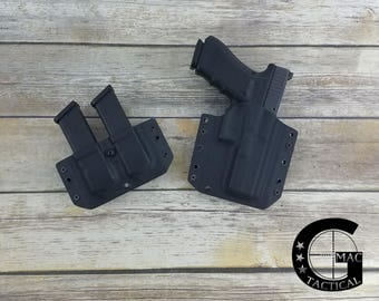Glock 17/22/31 Outside Waistband Kydex Holster and Double Mag Pouch