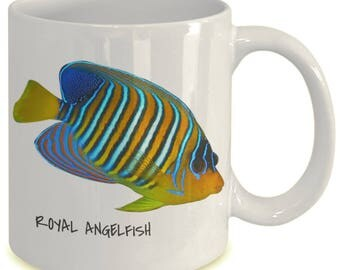 Royal Angelfish - Tropical Fish Ceramic Mug Collection - Great Gift For Scuba Divers