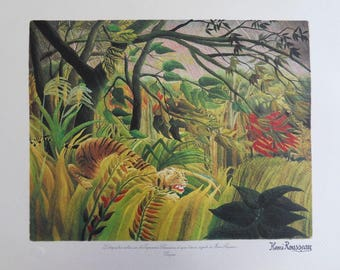 The customs officer ROUSSEAU (Henry): Surprised - original LITHOGRAPH #1976