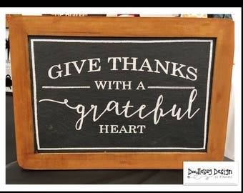 Give thanks chalkboard