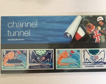 Channel Tunnel Royal Mail Mint Stamps Presentation Pack 1994