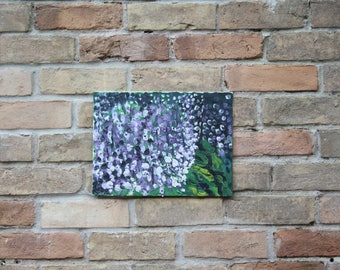 "Wisteria Oil Painting Abstract Original// ""Wisteria Lane"" 9X12 Canvas Board"