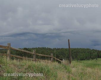 Storm Rolling Over the Hills Landscape Photo Print