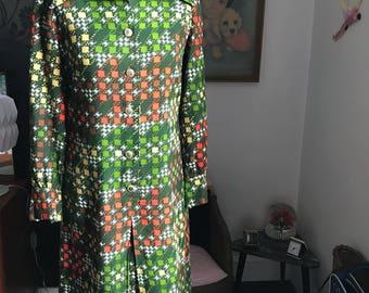 1970s Patterned Dress