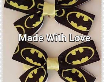 Batman hair bows