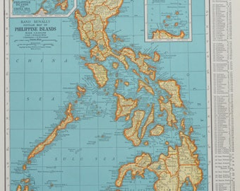 Philippines Map Etsy - Map philippines