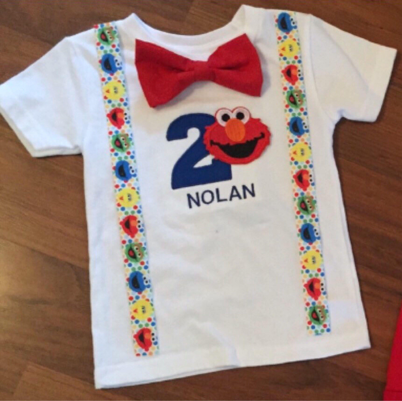 Elmo 2nd Birthday Elmo Boy Birthday Outfit Baby Boy Second