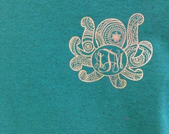 Mandala Monogrammed Octopus Shirt