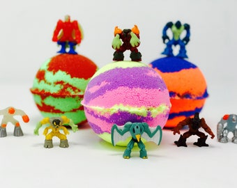 Sale! 5 7.0 oz Birthday Toy Set Surprise Inside. All Natural Vegan, Homemade with Texas Size Love.