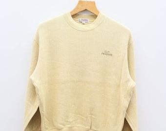 Vintage UP RENOMA Uniforme Prestige Yellow Sweater Sweatshirt Size M