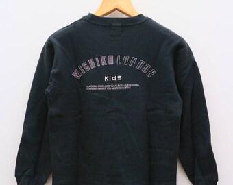 Vintage MICHIKO LONDON Kids Designer Black Sweater Sweatshirt Size 160