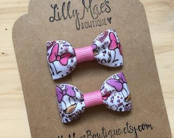 Minnie Mouse and Daisy inspired Mini Tuxedo Hair Bows, baby & toddler hair clip, mini bow