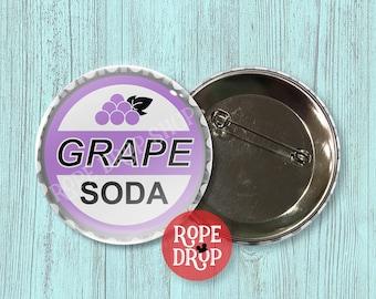"Grape Soda Bottlecap Button Badge - Inspired by Disney's Up - Disney Button - 2.25"""