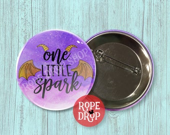 """One Little Spark Button Badge - Journey Into Imagination with Figment - Disney Button - 2.25"""""""