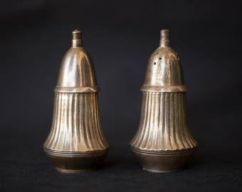 salt and pepper Shaker / salt and pepper shakers / chic decor / empire Style / sterling silver / mid century / vintage