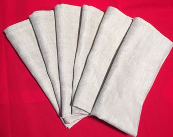 Set of 6 100% soft linen napkins, 20x20