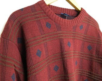 Knit Burgundy man