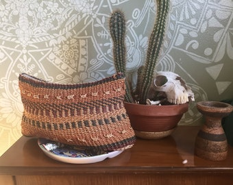 Vintage Woven Clutch in Earth Tones