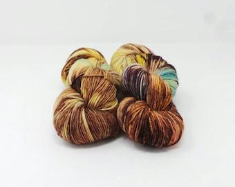 Choc Chip Treat - 4ply Divine hand dyed yarn – Superwash MCN 80/10/10% Merino / Cashmere / Nylon