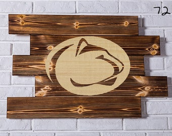 PENN State NITTANY LIONS Wood Sign  Wall art  Gift Birthday Party wooden