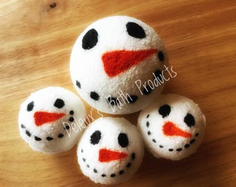 Mr Snowman Bath Bomb. Christmas Bath Bomb. Gift for Her. Bath Bomb Present. Gift for Daughter. Stocking Stuffer. Christmas Present for Mom.