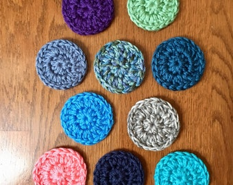 Car Coasters - Absorbant Drink Holder Coasters - Set of 2 - Crochet Car Coasters - Soft Car Coasters - You Choose Color