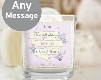 Personalised Garden Bloom Scented Jar Candle Gifts Ideas For Her Girls Womens Mum Auntie Friend Sister Birthday Christmas New Home
